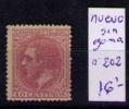 ESPAÑA 1879 - ALFONSO XII - EDIFIL Nº 202 - Ungebraucht