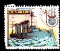 Vignette DELANDRE - England HMS DRAKE - 1914 - 1918 WWI WW1 Cinderella Poster Stamps Seals France - Cinderellas
