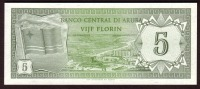Billet - ANTILLES NEERLANDAISES - 5  Gulden Du 31 03 1986 -  Pick 22a Neuf - Aruba (1986-...)