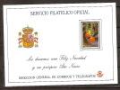 España Tarjeta Felicitacion Navidad 1987 - Entiers Postaux
