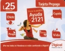 TARJETA DE HONDURAS DE 25 LEMPIRAS DE UNA CHICA CON MOVIL (DIGICEL) - Honduras