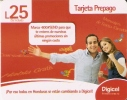 TARJETA DE HONDURAS DE 25 LEMPIRAS DE UNA PAREJA (DIGICEL) - Honduras