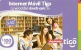 TARJETA DE HONDURAS DE 100 LEMPIRAS DE TIGO INTERNET MOVIL - Honduras