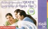 TARJETA DE HONDURAS DE 200 LEMPIRAS DE TIGO  TARJETA PROMOCIONAL - Honduras