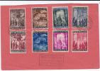 VATICAN - 1950 - ANNEE SAINTE - MiNr.163/170 Sur ENVELOPPE NON CIRCULEE - Lettres & Documents