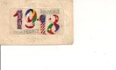SOUVENIR  DE  FRANCE  - 1918   - Carte Brodée - Guerre 1914-18