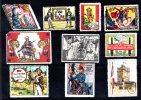 10 Vignettes DELANDRE Diverses Régiments Français 1914 - 1918 WWI WW1 Cinderella Poster Stamps Seals France - Vignettes Militaires