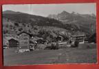 B402 Les Haudères,Val D'Hérens,vue Sur La Forcla.Circulé Mais Timbre Arraché,Pli.Gyger 17546 - VS Valais
