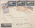 MAROC-DAGUIN DE CASABLANCA SUR LETTRE AVION POUR LA FRANCE DU 27-1-1935-ENVELOPPE ENTETE. - Marruecos (1956-...)