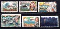 6 Vignettes DELANDRE Divers Navires De Guerre Français 1914 - 1918 WWI WW1 Cinderella Poster Stamps Seals France - Vignettes Militaires