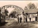 L'ENTREE DU CAMP DE STETTEN - VERITABLE PHOTO-PETIT FORMAT-ANIME-TBE - Casernes