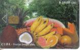 Cuba-frutas Tropicales-10/2000-used Card-tirage-30.000+1 Card Prepiad Free - Cuba