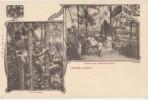 CPA CEYLAN CEYLON COLOMBO Souvenir Fantaisie Greetings From 2 Vues Tree Climber Rickshaw 1904 - Sri Lanka (Ceylon)