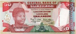 SWAZILAND 50 EMALANGENI 1.4.2001 P 31 UNC - Swaziland