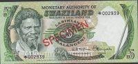 Swaziland 5 Emalangeni ND. 1974 P3s - Swaziland