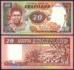 SWAZILAND 20 EMALANGENI ND (1986) P12 UNCIRCULATED - Swaziland