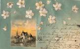 AK FLORA BLUME   Stitched Mit Seide   OLD POSTCARD 1899 - Ansichtskarten