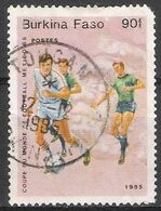 Burkina Faso 1985 Scott 693 Sello º Deportes Futbol Mundial Mexico 90f Ex Alto Volta Burkina Faso Stamps Timbre - Burkina Faso (1984-...)