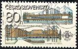 Checoslovaquia 1981 Scott 2366 Sello * Uran Y Hoteles Del Ocubre Rojo 80h Mi.2619 Yvert2442 Czechoslovakia Stamps Timbre - Checoslovaquia