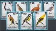 Mongolie - Oiseaux PA 101/107 Oblit. - Collections, Lots & Séries