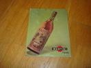 Plaque En Carton Martini Au Dos Bar Chez Gegene Aix Les Bains - Placas De Cartón