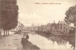 DOUAI : Quais De L'entrée Des  Eaux  - RARE CPA -  Cachet De La Poste 1924 - Douai