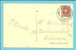 192 Op Kaart Met CirkelstempelKNOCKE (Knocke-Zoute) - 1922-1927 Houyoux