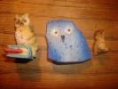 3 Chouettes Hiboux - Birds - Owls