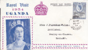 K U T  - 1954  ROYAL VISIT  ILLUSTRATED FDC TO  HENLEY ON THAMES - Timbres