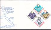 WORLD WAR II  - GILBERT & ELLICE ISLANDS - 1968 TARAWA BATTLE SET OF 4  ON ILLUSTRATED FDC - Guerre Mondiale (Seconde)