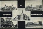 Houthalen :  Groeten Uit  (  Groot Formaat Geschreven Met Zegel )   Koolmijnen - Mines - Houthalen-Helchteren