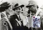 Australia 1995 Australia Remembers II - Ellen Savage Centre Meets Eleanor Roosevelt Right Maximum Card - Cartes-Maximum (CM)