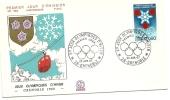 1967 - Francia 1520 Olimpiadi Di Grenoble - FDC, - Inverno1968: Grenoble