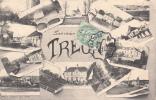 Dép. 28 - Souvenir De TREON. Multivue. Oblitération Intéressante Depuis Chartres 1907 - France