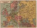 AK EUROPE MAPS MADE IN UNGARN OLD POSTCARD  Groß Wie Ein Zwei Postkarten - Zoll