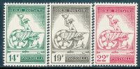 BELGIUM 1957 MERCURY AND WINGED WEEL SC Q368-70 VF OG LH - Belgium