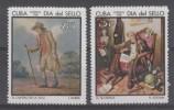PAIRE NEUVE DE CUBA - TABLEAUX (JOURNEE DU TIMBRE 1968) N° Y&T 1233/1234 - Art