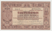 Netherlands 1 Gulden Zilverbon 1938 VF+ CRISP Banknote - [2] 1815-… : Regno Dei Paesi Bassi