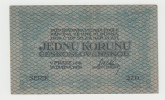 Czechoslovakia 1 Koruna 1919 VF++ RARE Banknote P 6a  6 A - Tchécoslovaquie