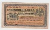 MEXICO 1 Peso TESORERIA DE FEDERACION 1914 VF - Messico