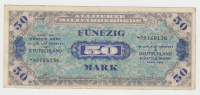 GERMANY ALLEMAGNE 50 MARK 1944 VF+ P 196d 196 D - [ 5] 1945-1949 : Allies Occupation