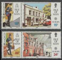 Isle Of Man 1990 Mi 427 /8 + 429 / 0 ** Postman, Post Office / Briefträger, Postamt / Facteur, Bureau De Poste/ Postbode - Post