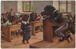07846g ARTHUR THIELE - CHIEN - L'Ecole - L'Interrogation - 1910 - Thiele, Arthur