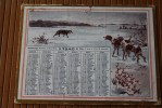 WW2 1940 CALENDRIER ALMANACH DOUBLE Face PETIT FORMAT 17 X12 CM:CHASSE CHASSEUR,CHIENS ,LOUP,CANARDS,PHOTOS RECTO VERSO - Klein Formaat: 1921-40