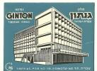 ANCIENNE ETIQUETTE HOTEL - VINTAGE LUGGAGE LABEL - HOTEL GINTON - TIBERIAS (ISRAEL) - Etiquettes D'hotels