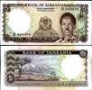 TANZANIA 5 SHILLINGS ND 1966 P 1 UNC - Tanzanie