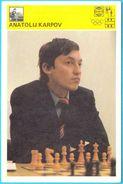 ANATOLY KARPOV Russia Chess Grandmaster (Yugoslavia Vintage Card Svijet Sporta) Echecs Ajedrez Schach Scacchi Check Shah - Chess