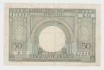 "Morocco 50 Francs 2-12- 1949 ""F+"" Crispy Banknote P 44 - Morocco"