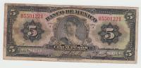 """MEXICO 5 Pesos 1936 RARE Serie """"""""J"""""""" P 29 - Mexico"""