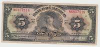 """MEXICO 5 Pesos 1947Serie """"""""E"""""""" P 34i  34 I - Mexico"""